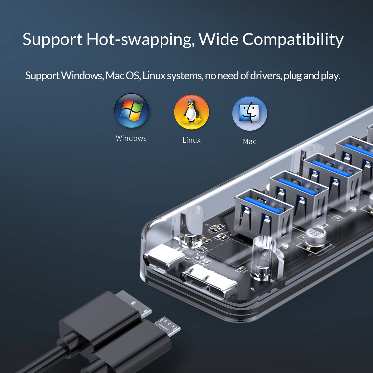 support Hot-swapping wide compatibility